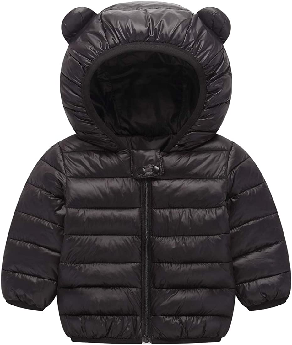 Boys Girls Hooded Down Cotton Coat Quilted Warm Jacket Outerwear Winter Clothing Children