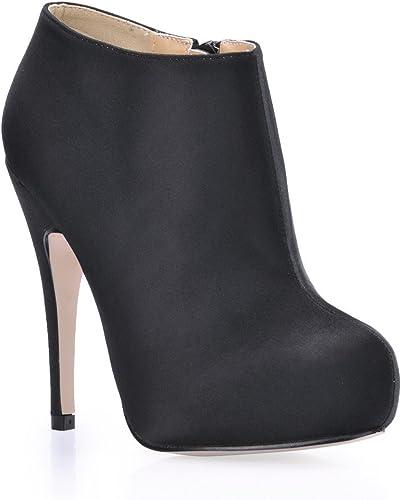 Appuyez sur le nouveau haut-chaussures de talon et Boîtes de nuit sexy chaussure rouge sauvage noir OL Ladies démarrage
