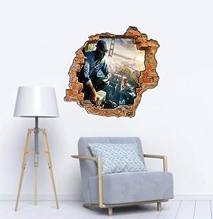 Adesivo Buraco Watch Dogs jogo tamanho 55cm x 50cm