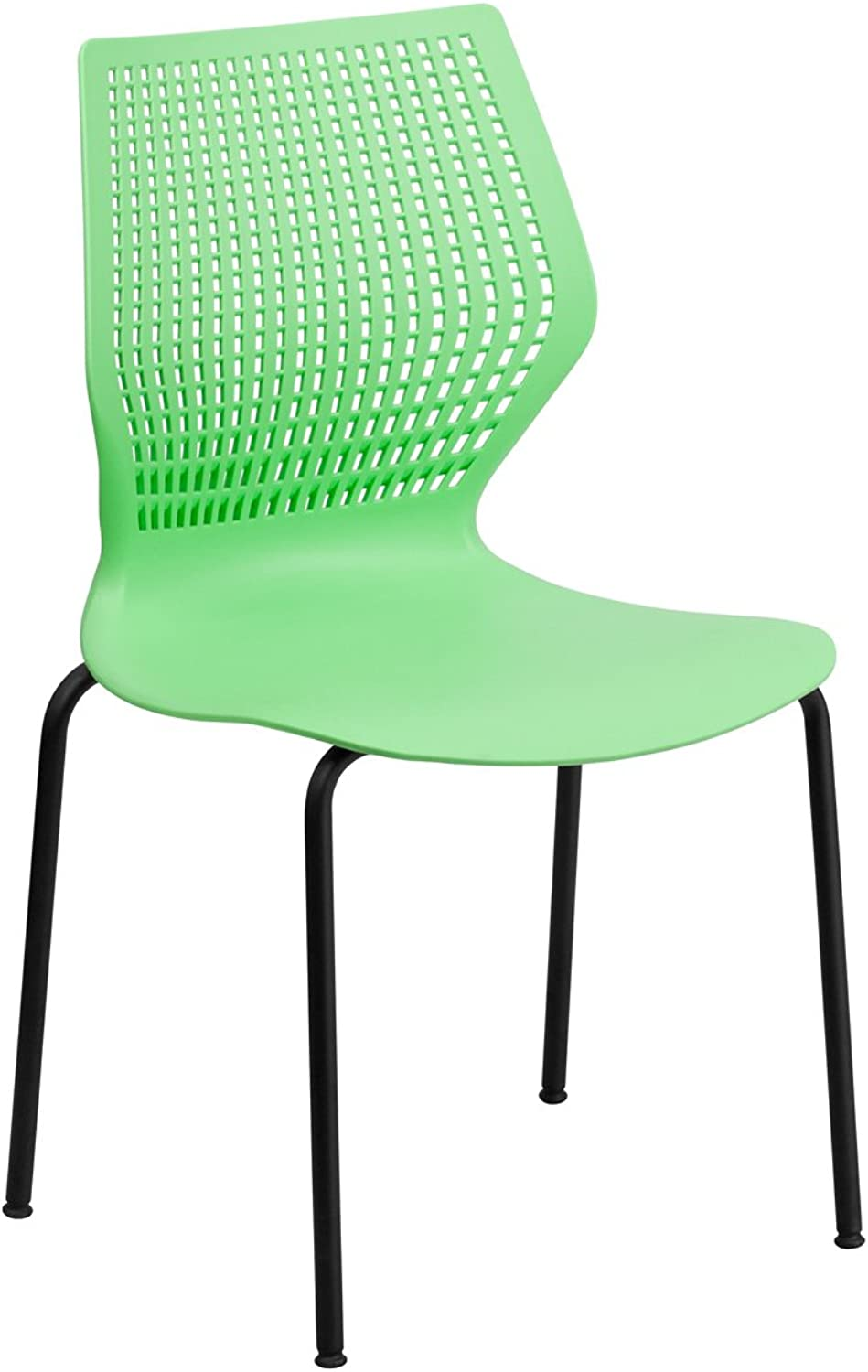 Offex OF-RUT-358-GN-GG Hercules Series Designer Green Stack Chair with Black Frame, 770 -Pound