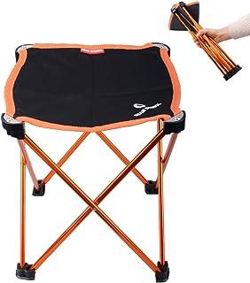 comprar comparacion Azarxis Mini Taburete de Camping Silla Asiento Plegable Bajo Peso Ligero Compacto Ultraligero Portátil para Pesca Playa Mo...