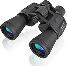 PHELRENA 20x50 Binoculars for Kids Adults,Compact HD Professional Binoculars Telescope Bird Watching Stargazing Hunting Concerts Football Sightseeing Phone Mount Strap Carrying Bag