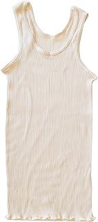 オーガニックコットン天衣無縫 スーピマリブ?タンクトップオフホワイト M~L(フリー)