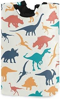 N\A Dinosaures colorés Panier à Linge Panier à vêtements Pliable Durable vêtements Sales Grand Rangement Organisateur de b...
