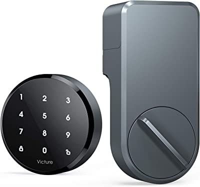 Victure Smart Lock - Keyless Entry with App & Touchpad, Easy Installation, Works with Existing Deadbolt, Space Gray