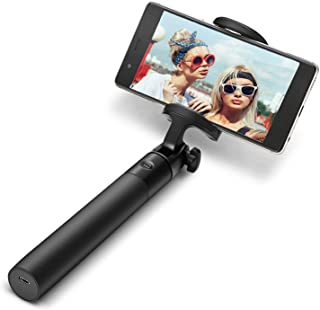 BlitzWolf Selfie Stick Bluetooth, Extendable Monopod with Built-in Wireless Remote Shutter Pocket-Size Adjustable Phone Holder for iPhone x 8 Plus 7 6 6s Plus Android Samsung s9 s8 Plus (Black)