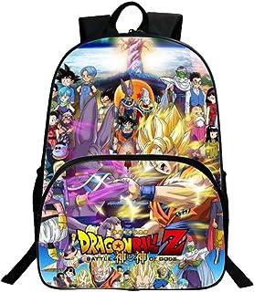 Dragon Ball Kids Mochila Niños Niñas Escuela de Moda Bolso Bandolera (D1)