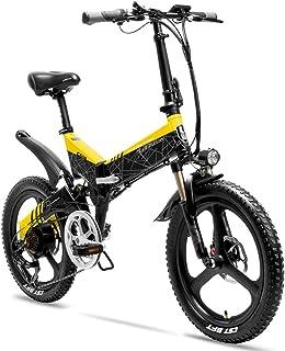 Extrbici G650 折り畳み自転車 自転車 mini自転車 ミニサイズ 48V 10.4 AHバッテリ 電機500W シマノ7段変速 20インチ 前後機械式ディスクブレ キ 通勤通学用 新品発売 (黄)