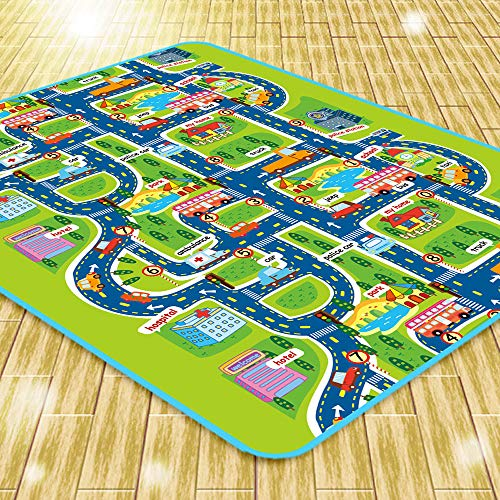 AILOVA Kinder Spielmatte,City Road Teppiche Kinderteppich Baby Spielzeug Teppiche Entwicklung Spielpuzzle Matten Moma Goma Eva Schaummatten