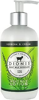Dionis Goat Milk Skincare Lotion (Verbena & Cream, 8.5 oz)