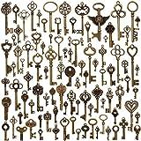 Juanya 100 piezas vintage de bronce antiguo mezclado de esqueleto colgante para hacer joyas y hacer...
