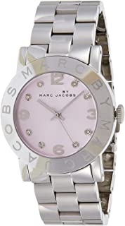 Marc by Marc Jacobs Women's Pink Dial Stainless Steel Band Watch - MBM3300
