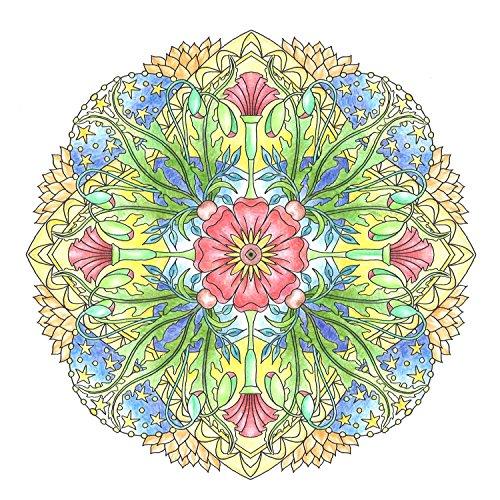 『flower mandalas 心を整える、花々のマンダラぬりえ』の2枚目の画像