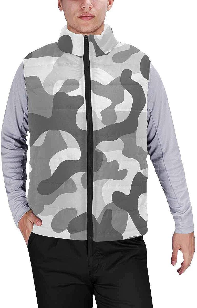 InterestPrint Lightweight Winter Padded with Full Zipper for Men Animal Skin Print