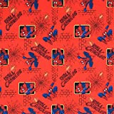 Fat Quarter Marvel Spiderman rot Wand Crawler Baumwolle