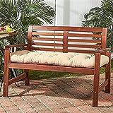 YDuro Banco de jardín cojín Grueso sofá Interior Almohadilla de Asiento de 2 plazas de Longitud Larga Almohada Muebles de al Aire Libre colchón de colchón de colchón de Sol cojín de Tumbona