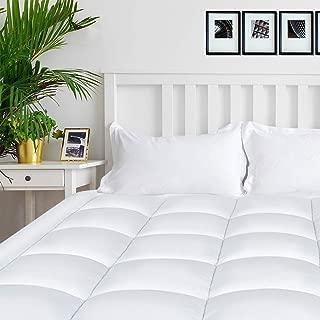 """Garden Joy Queen Mattress Pad Cover Overfilled Mattress Topper 8-21""""Deep Pocket Cotton Top Pillow Top with Snow Down Alternative Cooling"""