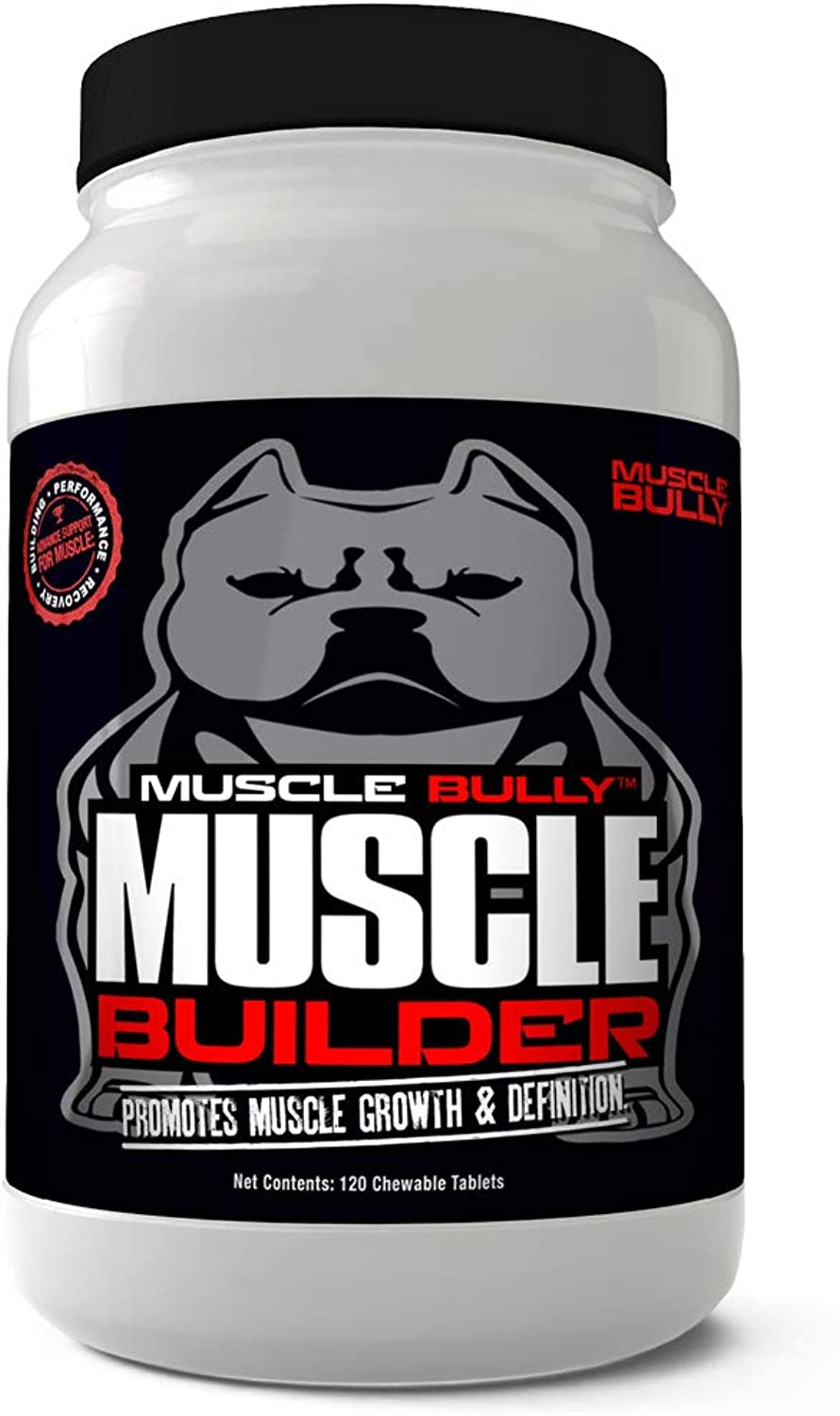 Muscle Builder Bullies, Pitbulls, Bull Breeds  Contains Proven Muscle Building Ingredients That Support Muscle Growth & Definition On Your Dog. Made in The USA. 100% Safe, No Side Effects.