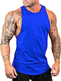 Gymleader Men's Gym Bodybuilding Stringer Muscle Training Cotton Blank Fitness Y-Back Tank Top Vest Sportwear