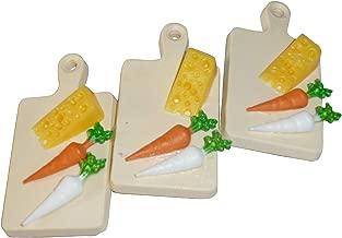 Tiempo de pan Tabla radi y queso Pasador de Pelo–Pasador con plástico Pan Tiempo Tablas, cuenco sopero Pinza de pelo, cabello travieso, divertido joyas
