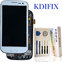 KDIFIX for Samsung Galaxy S3 i9300 i9305 i535 T999 i747 LCD Touch Screen Assembly + Frame with Full Professional Repair Tools kit (White+Frame)