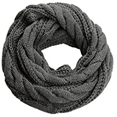 Materials: 100% Pashmina-like Soft Acrylic; Thick chunky warm knit loop circle-scarf for women, men. Many solid colors are available and different ways to wrap the knitted infinity scarf. Decent Pashmina woven cowl is ideal gift accessory for chilly ...