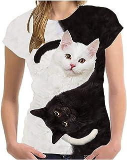 Unisex Animal T Shirts Summer Sleeve