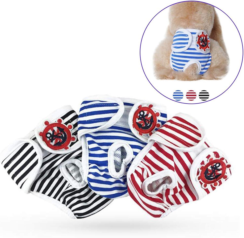 3 Pcs Female Pet Dog Diaper Physiological Pants Reusable Sanitary Shorts Panties Menstruation