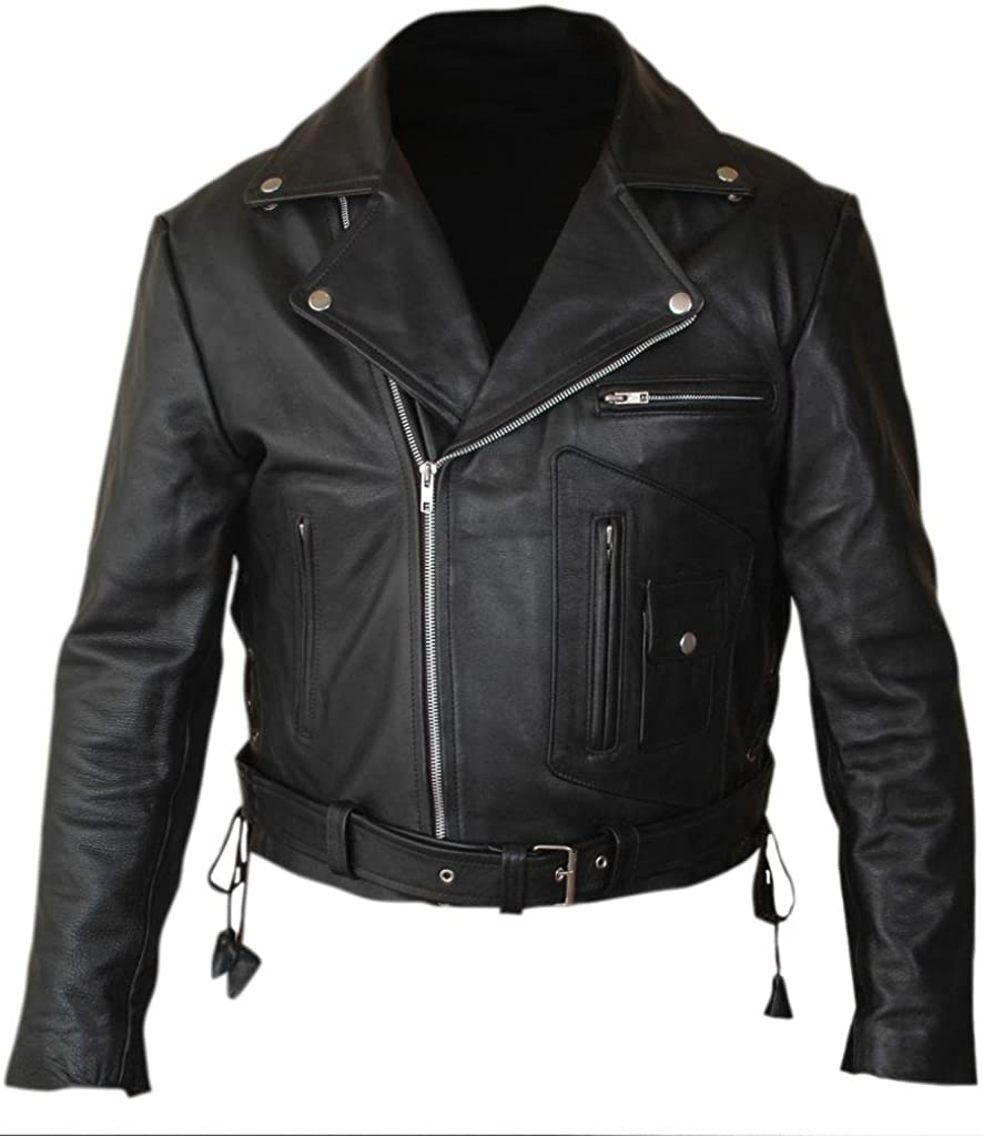 F&H Men's Terminator 2 Judgment Day Arnold Genuine Leather Jacket