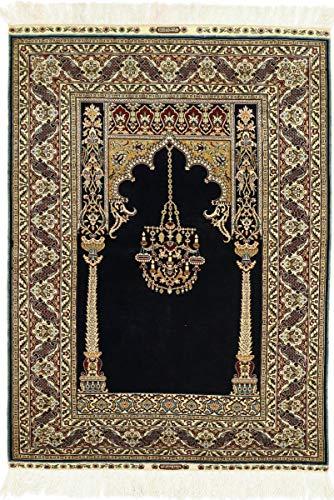 Nain Trading Herike Seide 141x103 Orientteppich Teppich Beige/Dunkelbraun Handgeknüpft Türkei