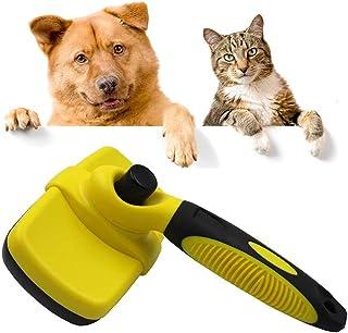 HTRUIYATY Szczotka dla psów pielęgnacja zwierząt domowych samoczyszczący grzebień dla psów codzienne użytkowanie do czyszc...