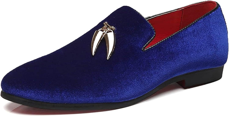 Battle Men Men's Smoking Loafer Suede Leather Slip on Gold Tassel Block Heel Dress Shoes Solid Color Anti Slip Wedding Loafers Casual