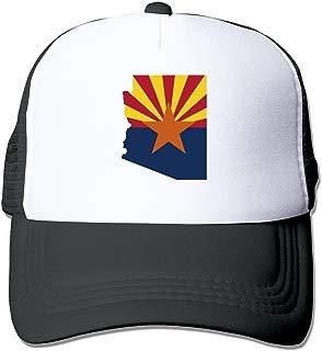 Flag Map of Arizona Mesh Unisex Adult-one Size Snapback Trucker Hats