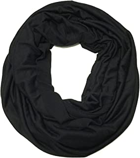 Soft Lightweight Jersey Knit Solid Color Infinity Scarf Jersey Circle Scarf