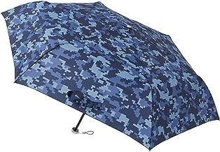 [ムーンバット] urawaza(ウラワザ) 折りたたみ傘 迷彩柄 ネイビーブルー 52㎝【3秒で折りたためる傘】
