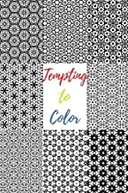 Tempting to Color: 60 Beautiful Black & White Patterns to Color in & Relax Your Mind (Abstract on Black Pages) (Volume 1)