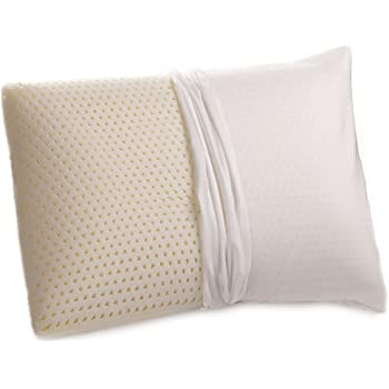 100% Talalay Latex Pillow with GOTS Certified Organic Cotton Cover (Standard Size, Medium Firmness), Bed Pillow for Sleeping, for Back and Side Sleepers, Helps for Back, Neck and Shoulder Pain