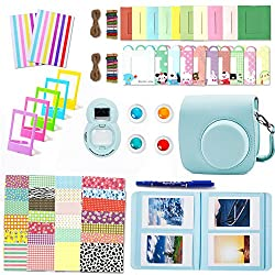 10 in 1 accessories Compatible with instax mini 8/8+ or mini 9 Instant Film Camera users It has everything you could possibly imagine; Not only let you save money but also you get to make your photos more unique & fashion Awesome as a gift, also grea...