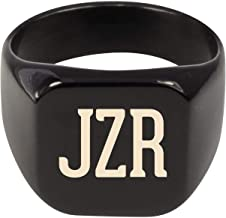 Molandra Products JZR - Adult Initials Stainless Steel Ring