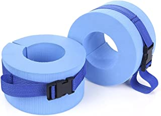 Swim Arm Band Set,Kids Float Disc,EVA Foam Swim Aquatic Cuffs,Water Aerobics Float Ring,Swim Float Sleeves Arm Float Armlet,Ankles Arms Belts with Quick Release Buckle for Swim Fitness Training ,2Pcs