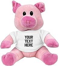 Custom Pig Plush: 7.5 Inch Pink Piggie Stuffed Animal