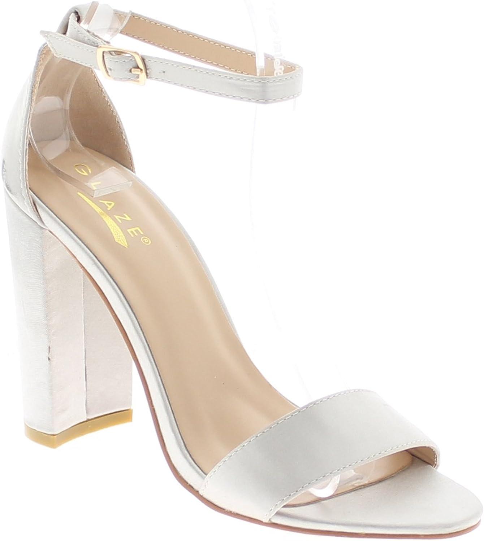 31f5e573b918b Glaze Open Toe Chunky Heel w Ankle Buckle Sandal npaefe5030-New ...