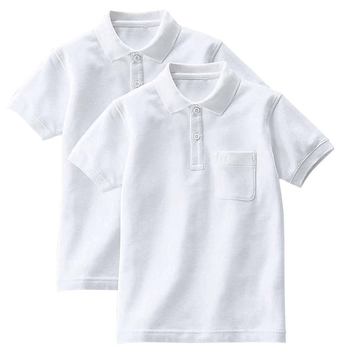 ホイール成人期盲信[セシール] 半袖ポロシャツ(2枚組セット) スクール キッズ 子供 小学生 制服 男女兼用 TH-1509
