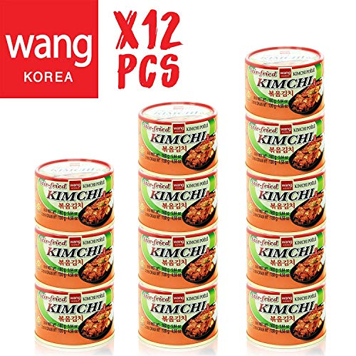 Korean Stir Fried Kimchi, Authentic Canned Napa Cabbage Original Tasteful Stir-Fry Kim Chi, Vegan Gluten Free No Preservatives - 5.64 oz/can (12 Count)