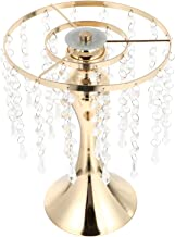 IMIKEYA Centro de Ficar Dourada De Metal De Altura Suporte de Vela Flor Com Cristal para Festa De Decoração de Mesa 28CM