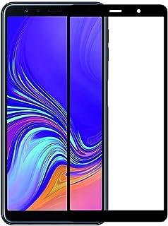 شاشة حماية سامسونج جالاكسي A7 2018 بتغطية كاملة خماسية الابعاد من الزجاج المقوى المنحني لهاتف جالاكسي A7 (2018) - سوداء