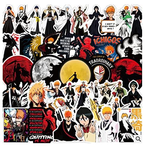 ZJJHX Riman Death Sticker Personalidad Dibujos Animados Anime PVC Graffiti Pegatina Maleta Guitarra Pegatina Impermeable 50 Hojas