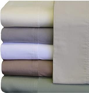 ABRIPEDIC TENCEL SHEETS, Silky Soft and Naturally Pure Fabric, 100% Woven Tencel Lyocell Sheet Set, 4PC Set, King Size, White