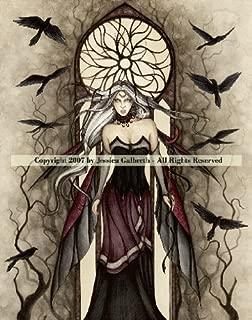 Dark Queen ~ Jessica Galbreth ~ Ceramic Sensations Tile ~ Fantasy Fairy Art