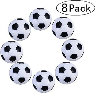 Tadudu Juego de Foosball de Futbol de Mesa, Paquete de 8PCS (Negro y Blanco, 32mm )